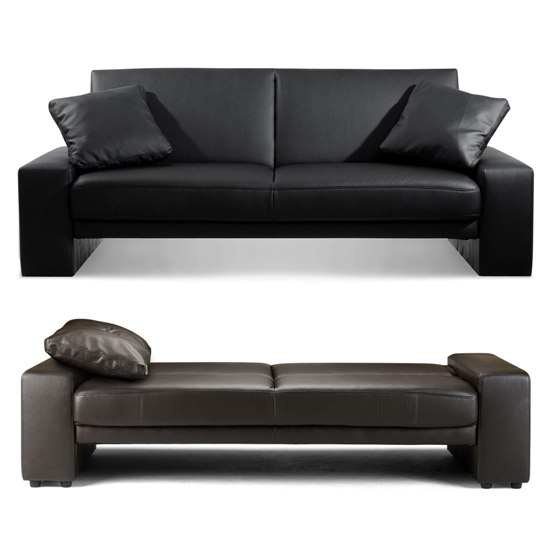 aux leather sofa bed