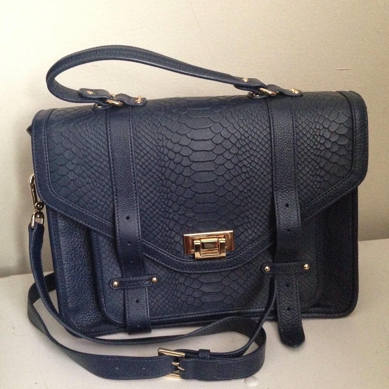 gigi new york python buckle bag, python bag,