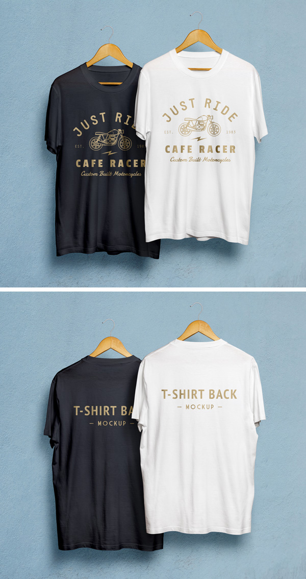 Download T-shirt Mockup PSD Terbaru Gratis - T-Shirt MockUp PSD #2