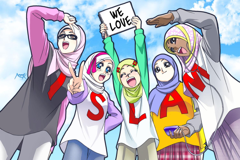 Berikut ani adalah kumpulan gambar kartun islami :