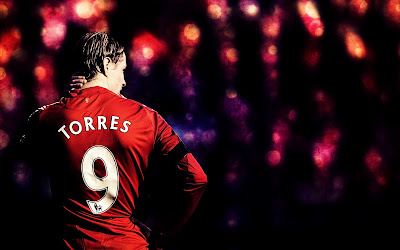 Fernando Torres Liverpool FC Back Number 9 HD Desktop Wallpaper