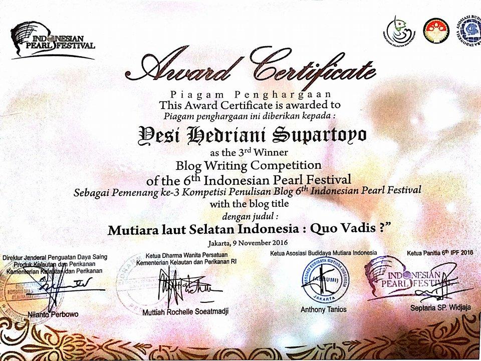 3rd Winner Kementerian Kelautan dan Perikanan