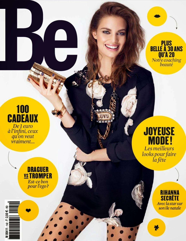 Magazine Cover : Rianne Ten Haken Magazine Photoshoot Pics on Be Magazine France January 2014 Issue