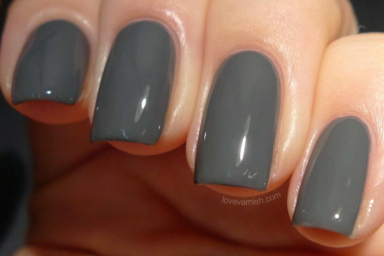 Black Dahlia Lacquer Dove Gray Corsage