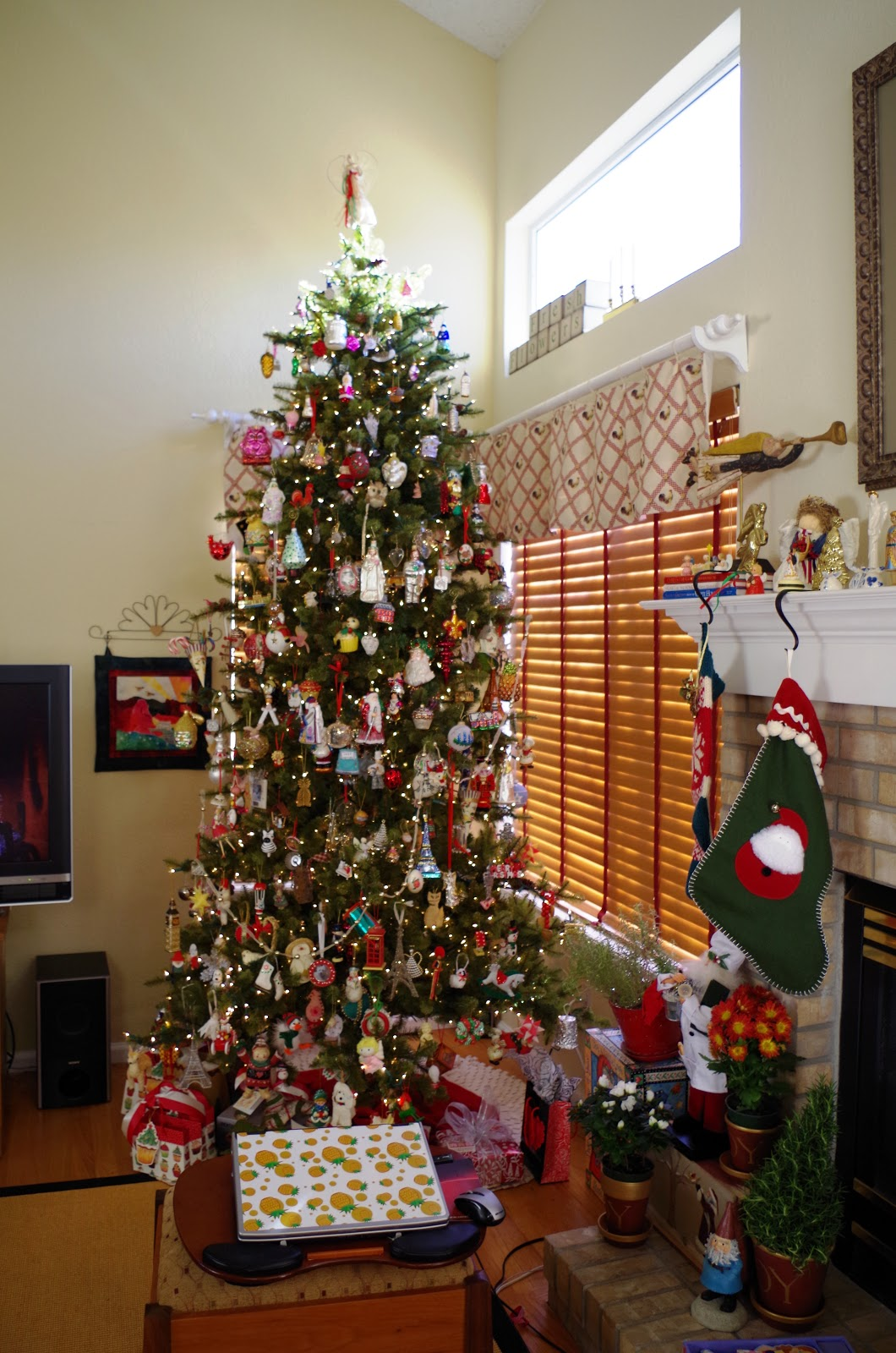Big Christmas Party Ideas Part - 21: Our Family Room Christmas Tree Is Filled - And Yes, This Took Hours! But,  Everyone Enjoys It - Especially Us - Filled With Ornaments From Our  Childhood, ...