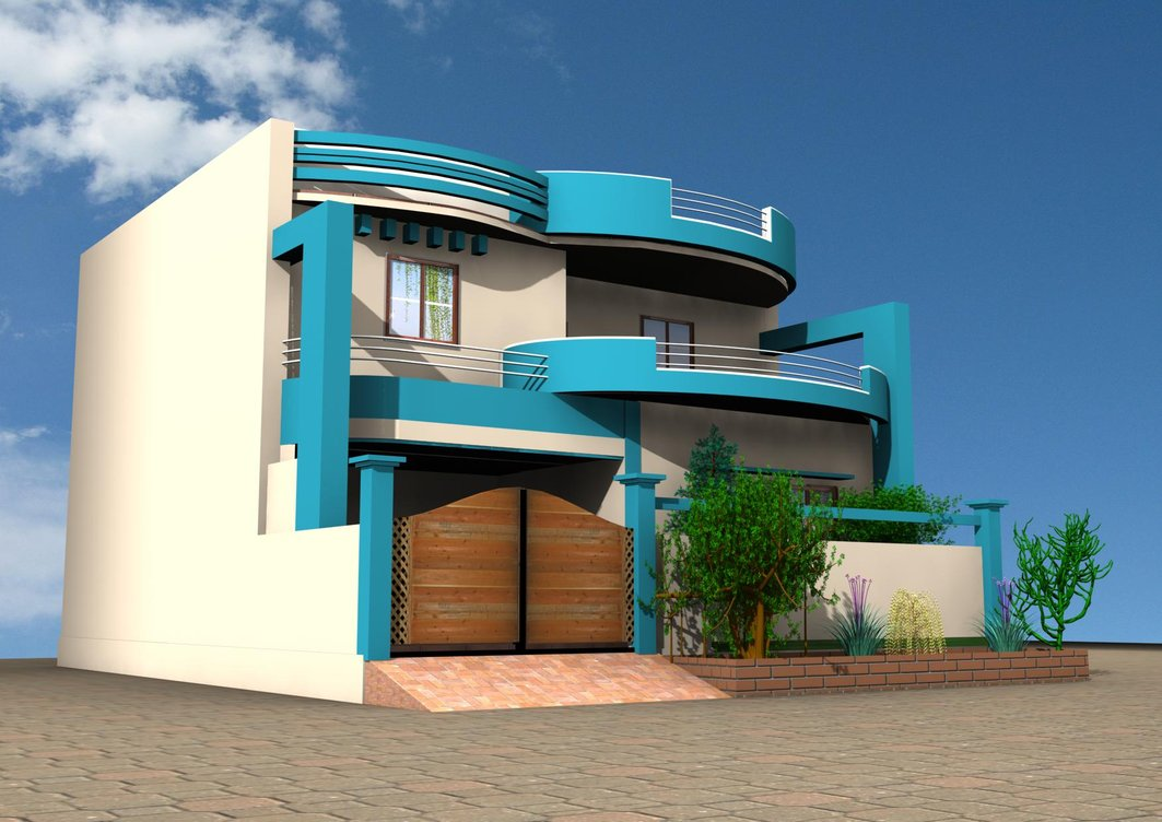 Modern homes latest exterior front designs ideas modern for Home designs 12m frontage