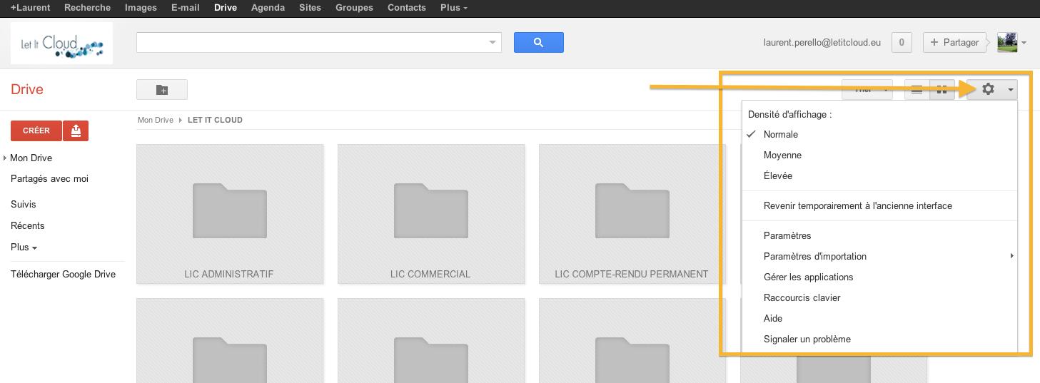 Google drive comment tre plus productif avec les for Ouvrir fenetre dos windows 7