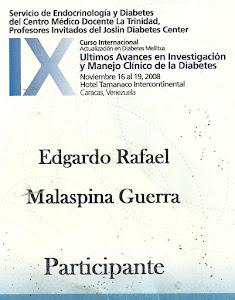 CURSO INTERNACIONAL DE DIABETES.