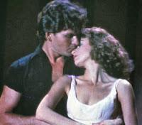 Cena do filme Dirty Dancing, com Patrick Swayze e Jennifer Grey. 1987.