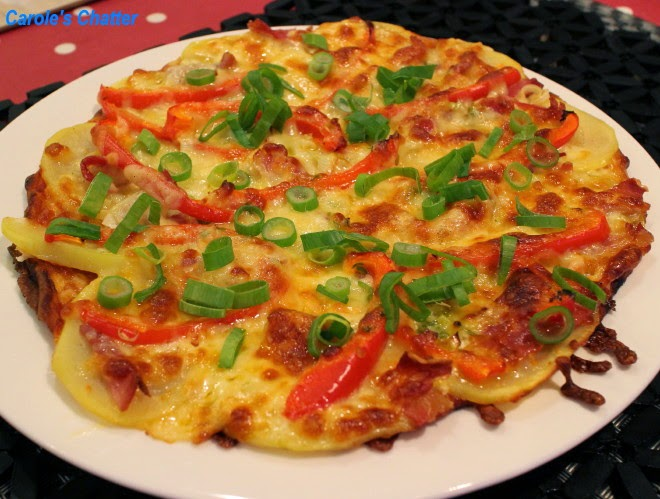 Potato & Prosciutto Pizza by Carole's Chatter