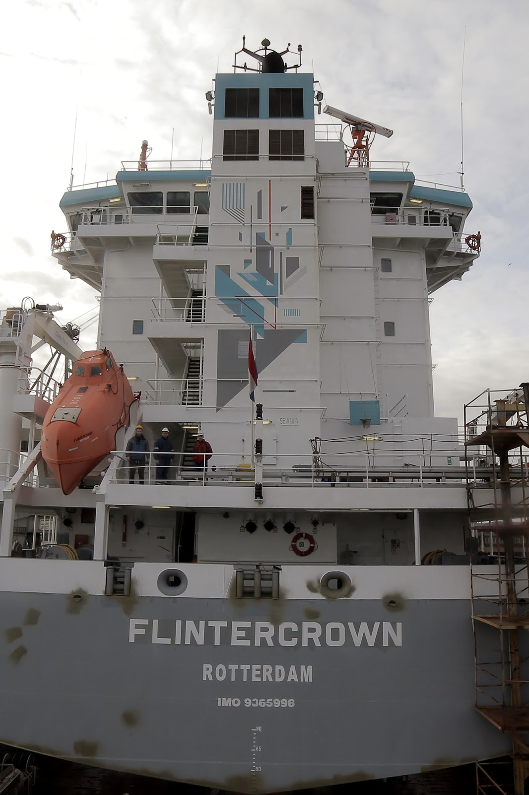 "Our friend Seikon just sent us a series of fresh pictures from his latest piece which he recently completed aboard a massive Cargo Ship called ""Flintercrown"" in Rotterdam. 1"