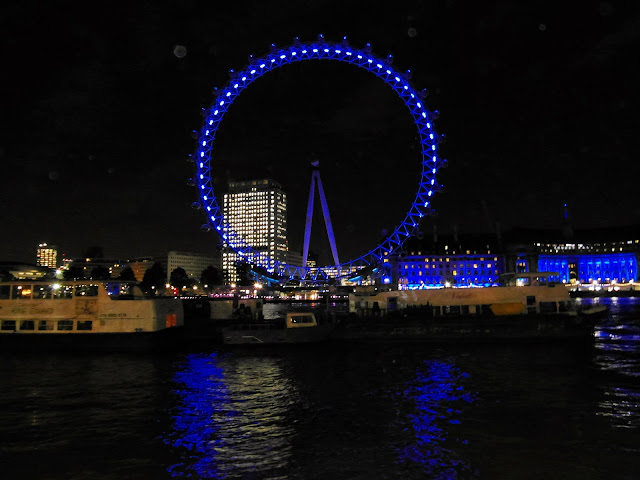The London Eye as viewed from the Victoria Embankment River Thames