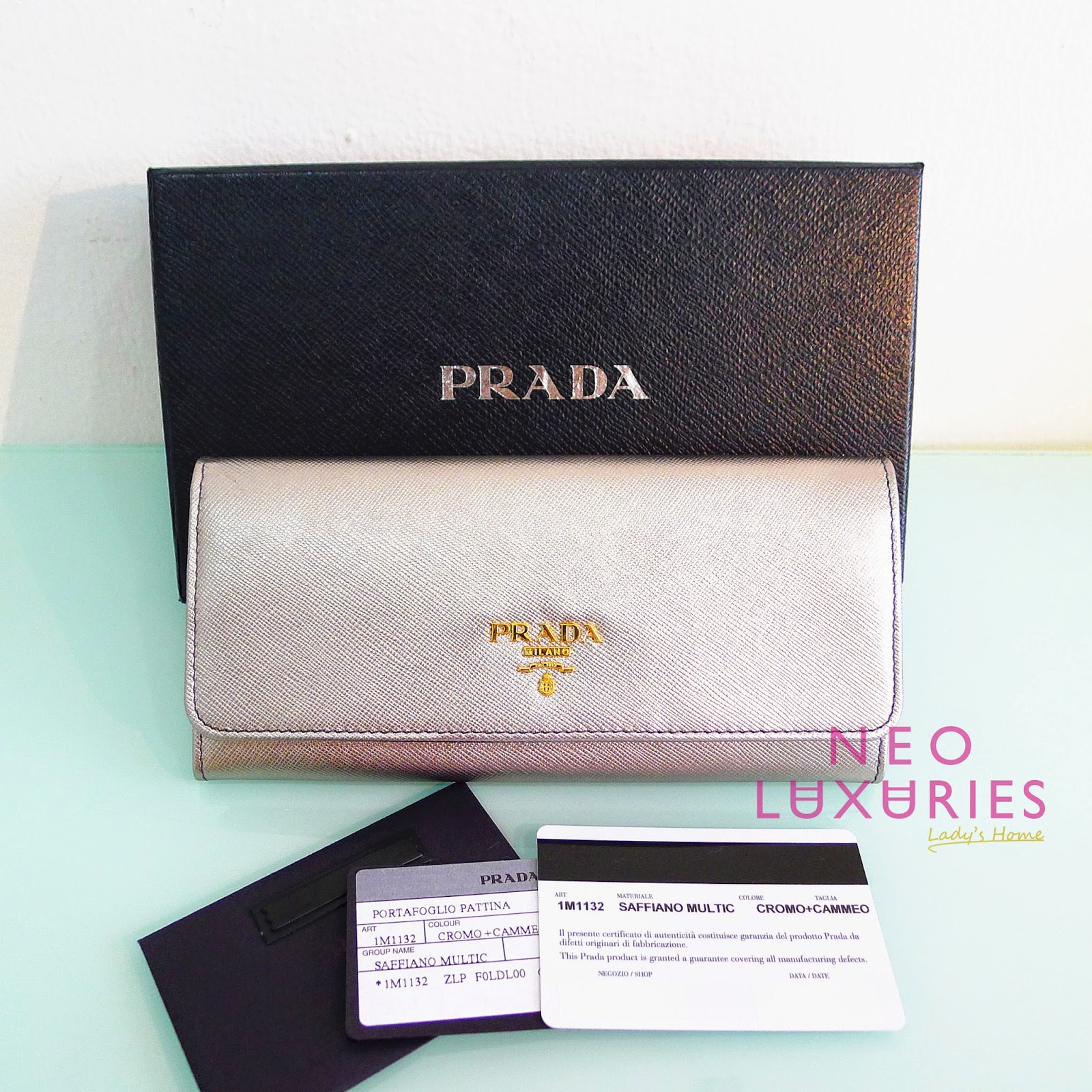 best prada handbags - Neo LUXuries: READY STOCK : PRADA Saffiano Leather Continental ...
