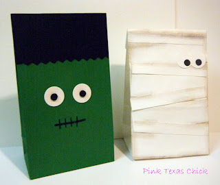 paper crafts for halloween: halloween treat bags tutorial
