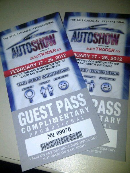 ALTA Group Free Canadian International Auto Show Tickets - How much are auto show tickets