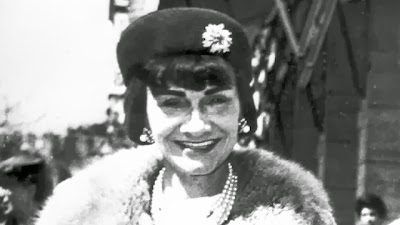 The famous French designer in her pearls