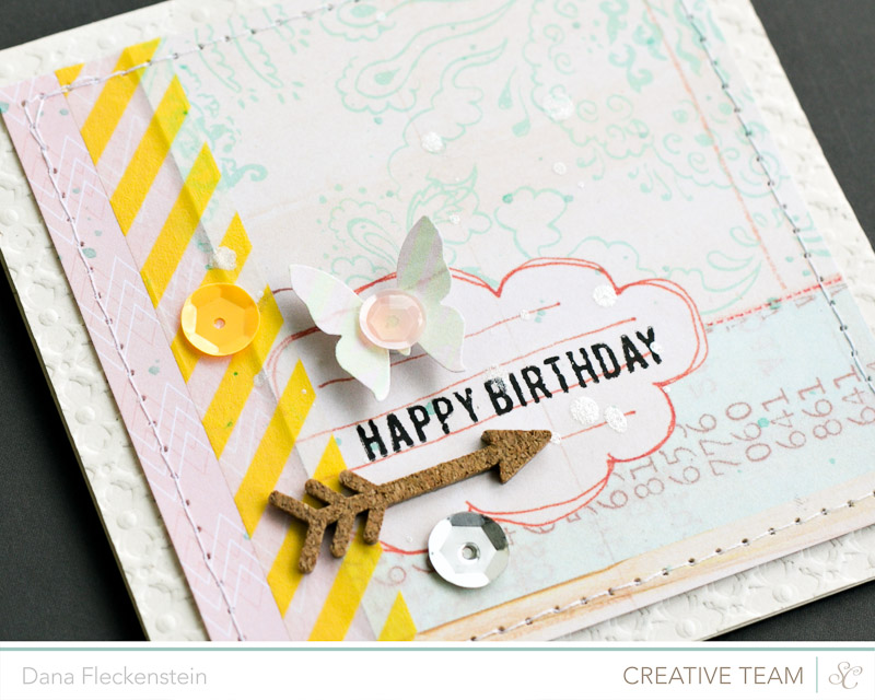 Handmade Pastelle Birthday Card by @pixnglue using Studio Calico's Atlantic Collection