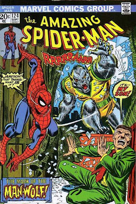 Amazing Spider-Man #124, first ever Man-Wolf