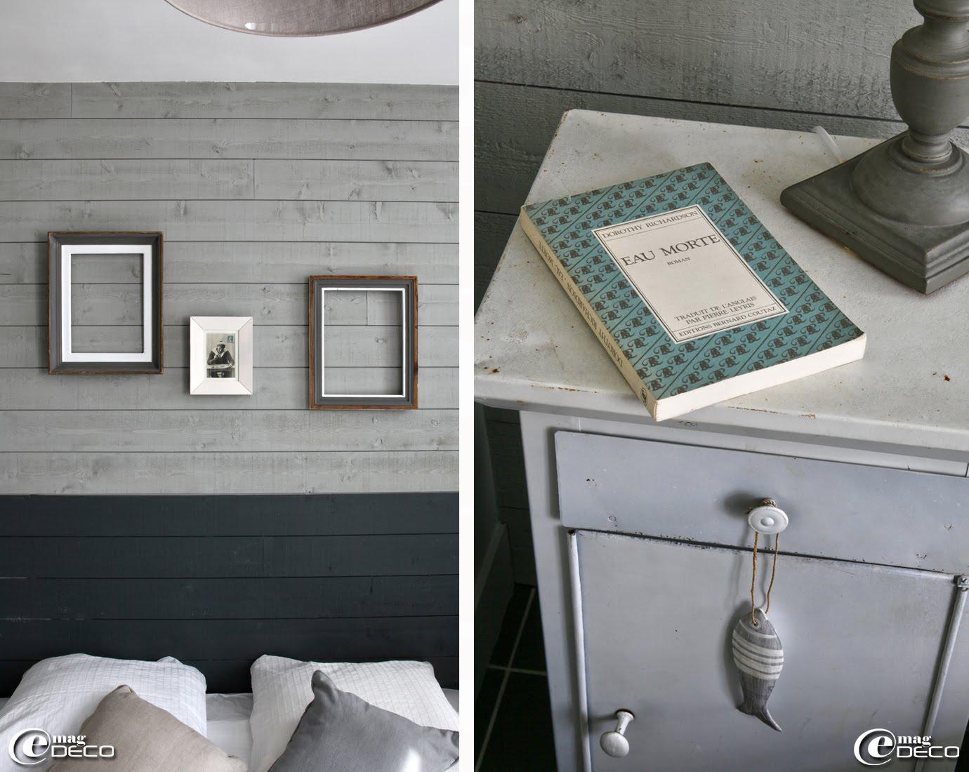 Bardage de planches peintes avec des couleurs 'Farrow & Ball', appartement de vacances gîtes 'La Maison Matelot' à Port-en-Bessin