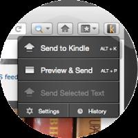 Foxfire Send to Kindle screenshot