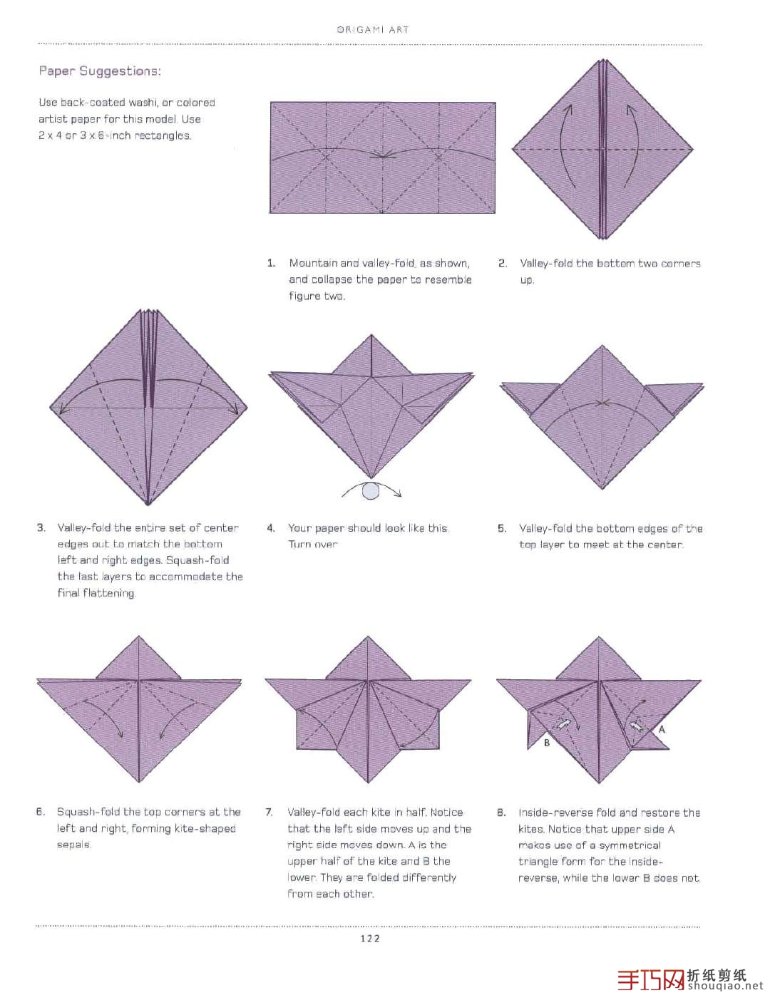 Here Is The Diagram On How To Fold A Simple Orchid Flower Like Picture Below