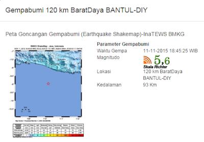 Informasi gempa bumi