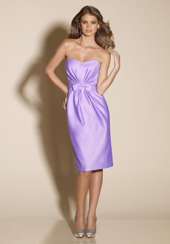 WhiteAzalea Sheath Dresses: Delicate Satin Sheath Short