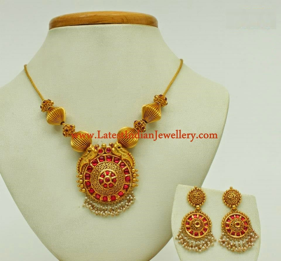 Temple Style Antique Gold Necklace