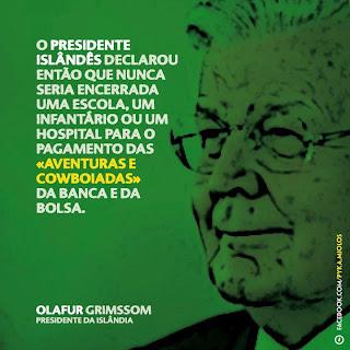 Ólafur Grímsson, presidente Islândia salvou