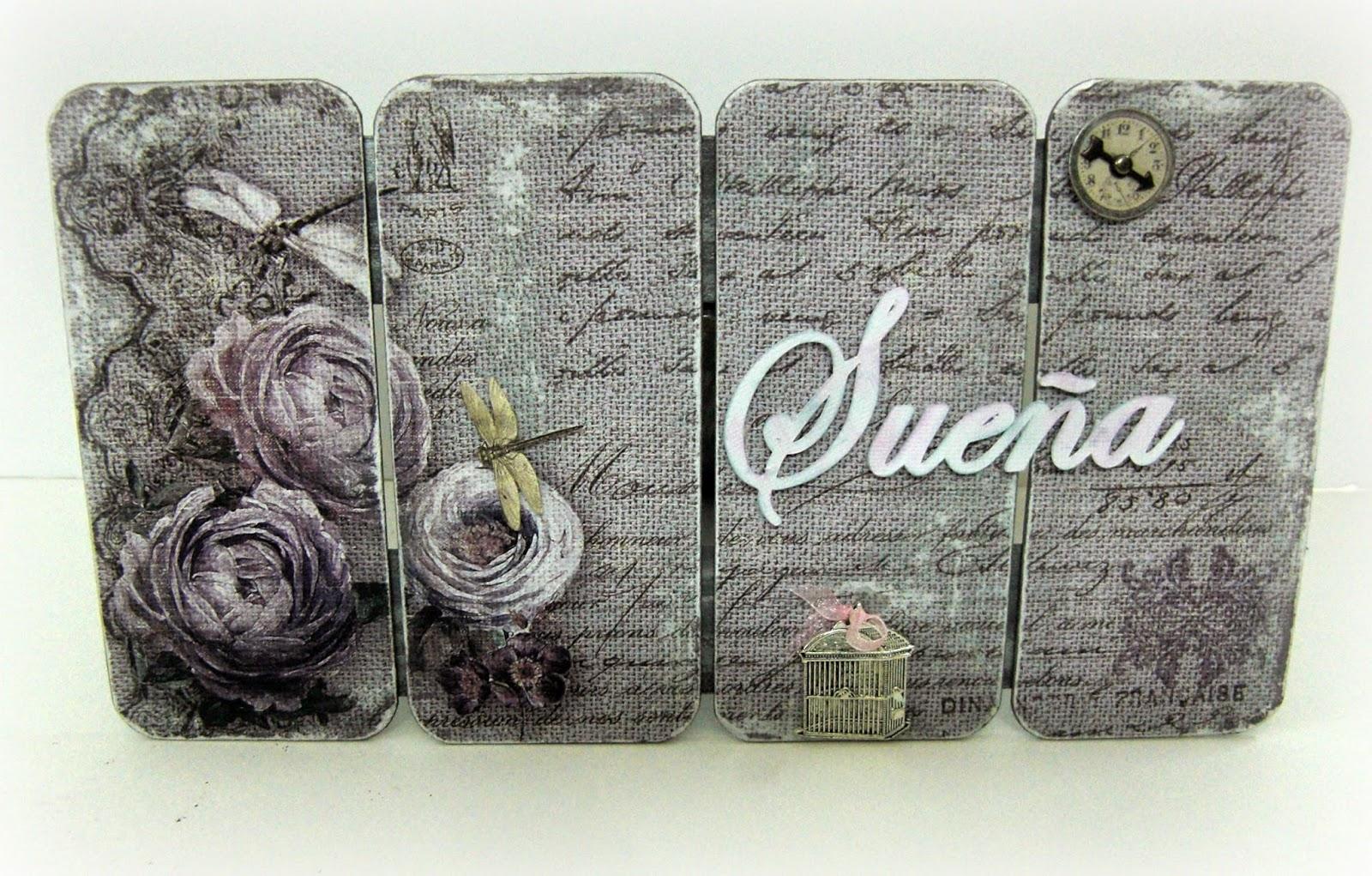 S-TROUBLE 15 Piezas de Madera te Amo dispersi/ón de Confeti Vintage decoraci/ón r/ústica de Fiesta Decoraciones de /álbum de Recortes artesanales