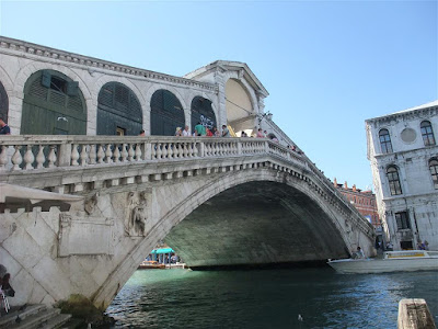 rialto bridge, grand canal, venice italy