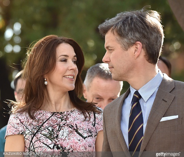 Danish Crown princess Mary and Crown Prince Frederik,  Japanese Princess Takamado and her daughter Princess Tsuguko at the official opening of the exhibition about Greenland, 'Spiritual Greenland' in Tokyo