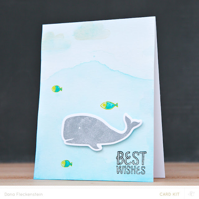 Best Wishes card using Studio Calico Copper Mountain Card Kits by @pixnglue
