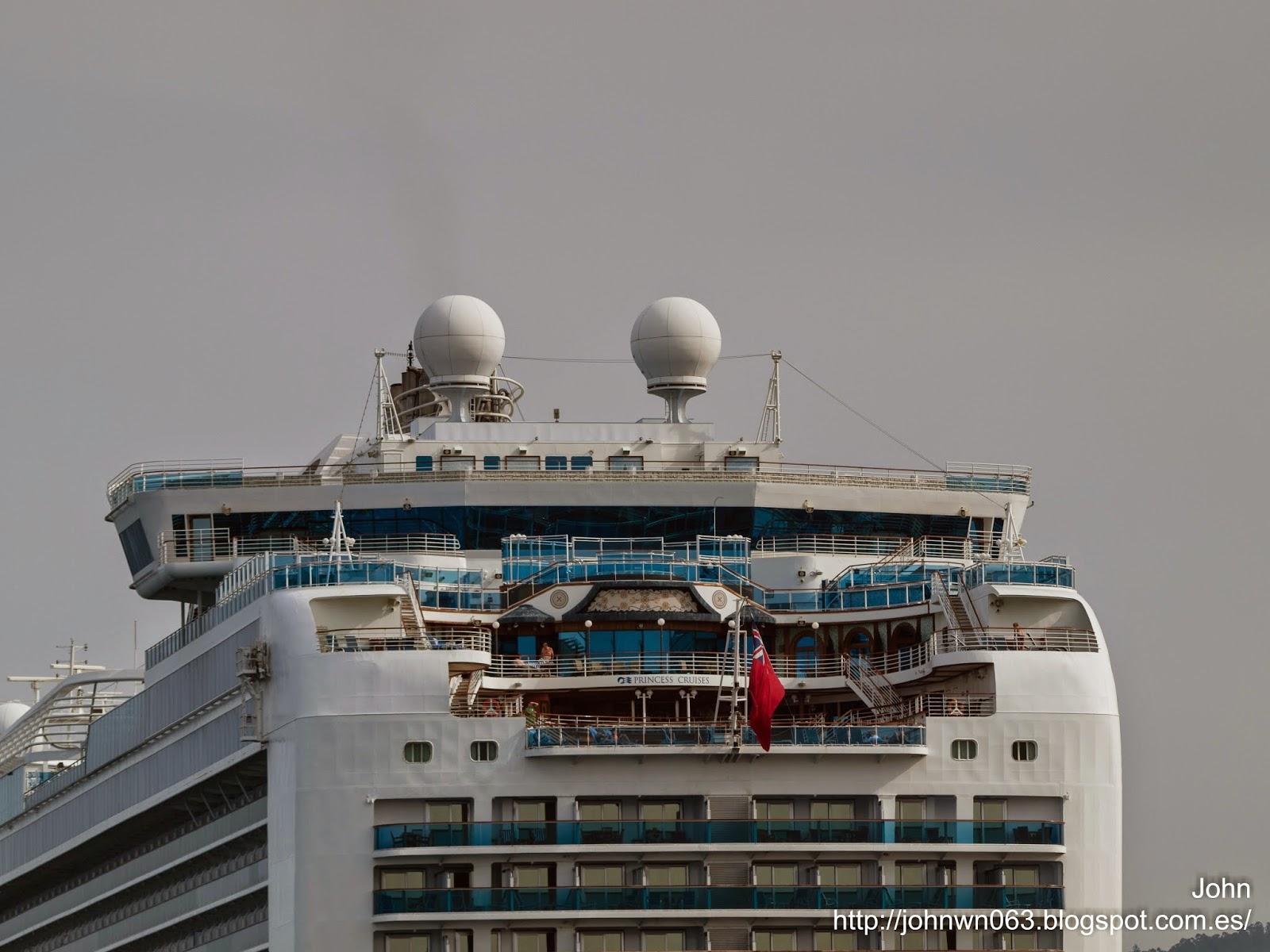 fotos de barcos, imagenes de barcos, emerald princess, crucero, vigo