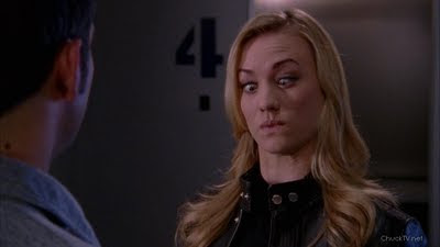 Yvonne Strahovski's flash face