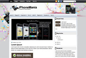 iPhoneMania Blogger Template