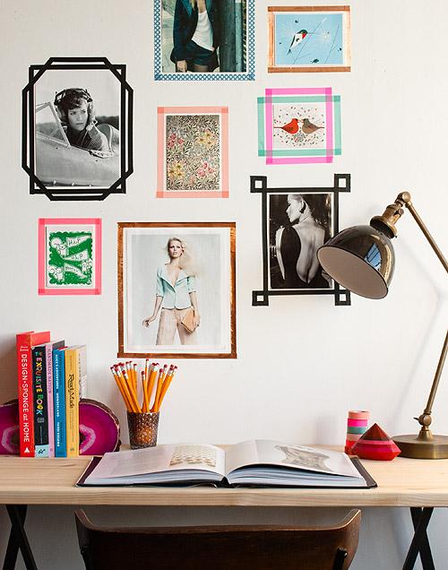 Wall Art cantik dari selotip