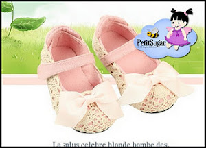 CHLOE BOW SHOES PINK RM45