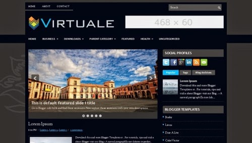 Virtuale - Free Blogger Template