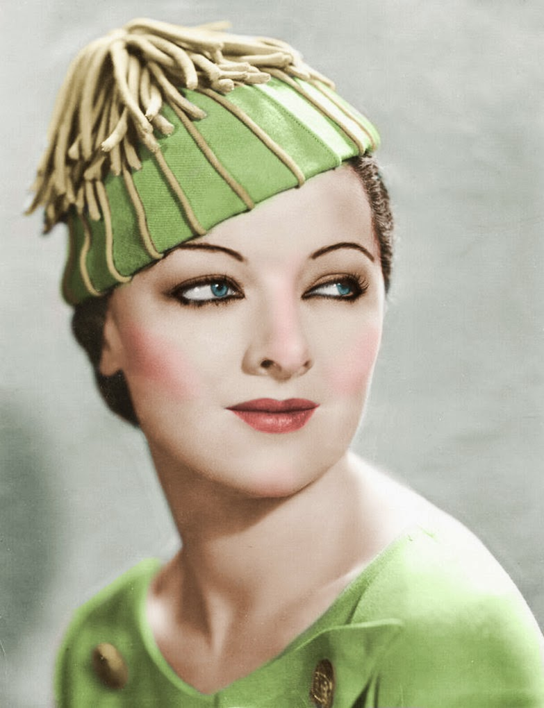 EVintage Myrna Loy Cheddar Puffs Thanksgiving Recipe Photo In Green And Gold Hat