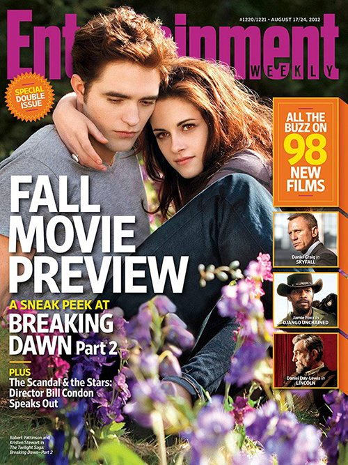Robert Pattinson and Kristen Stewart Cover EW (Entertainment Weekly) August issue Fall Movie Preview SPecial
