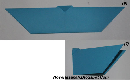 langkah-langkah melipat kertas origami untuk membuat bentuk binatang kelelawar yang unik, cocok untuk anak SD kelas 4, 5, dan 6, serta untuk pemula 7