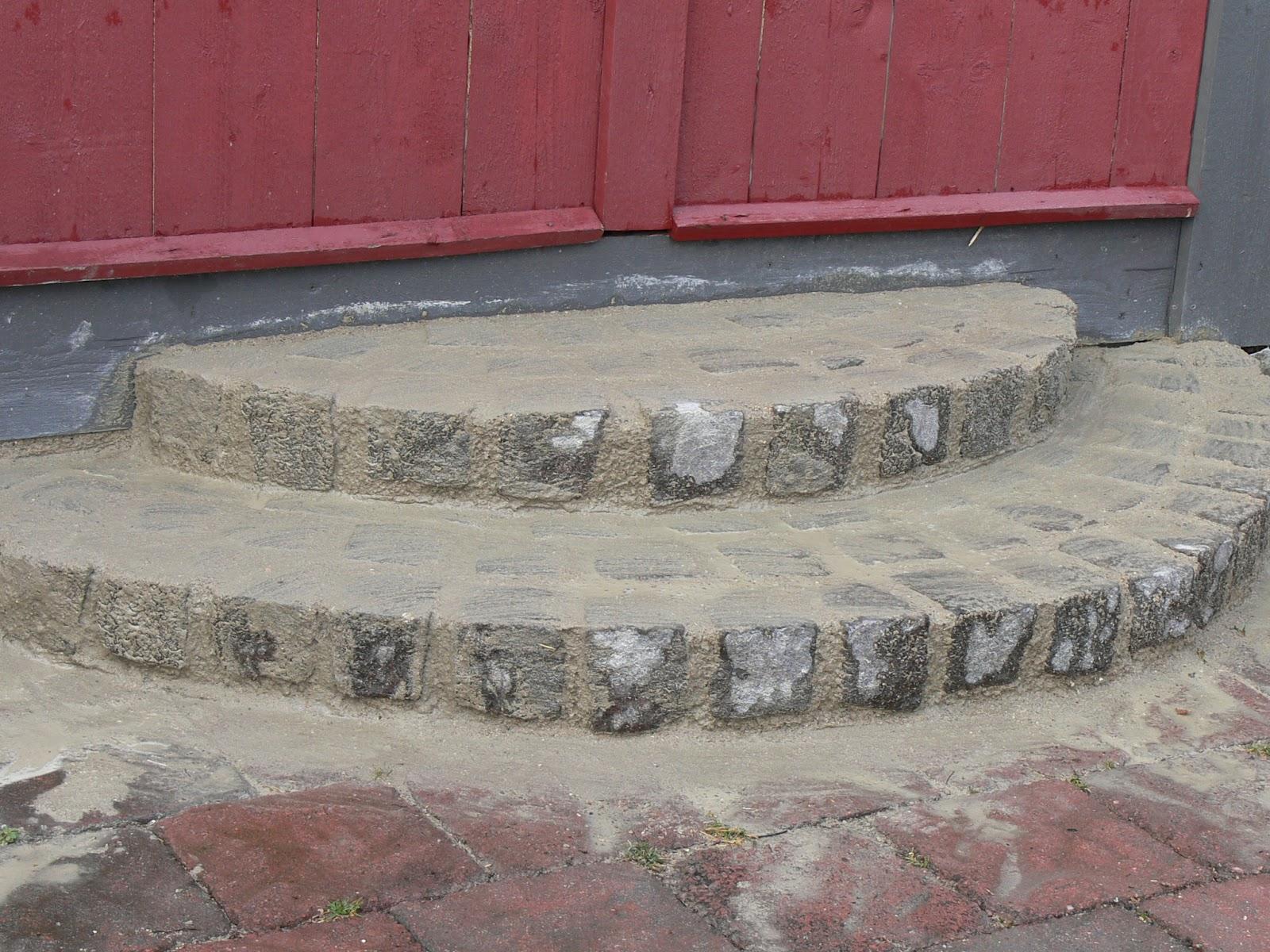 Sabelhagens olivlund : voila smågatstens'trappan' färdig