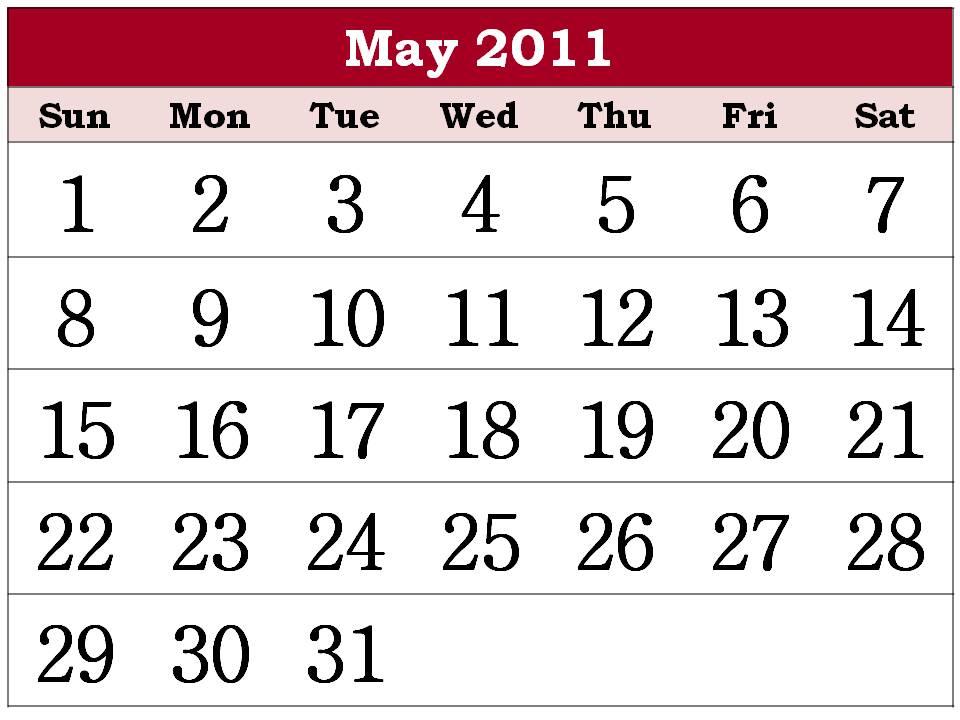 may calendars 2011. may 2011 calendar pdf.