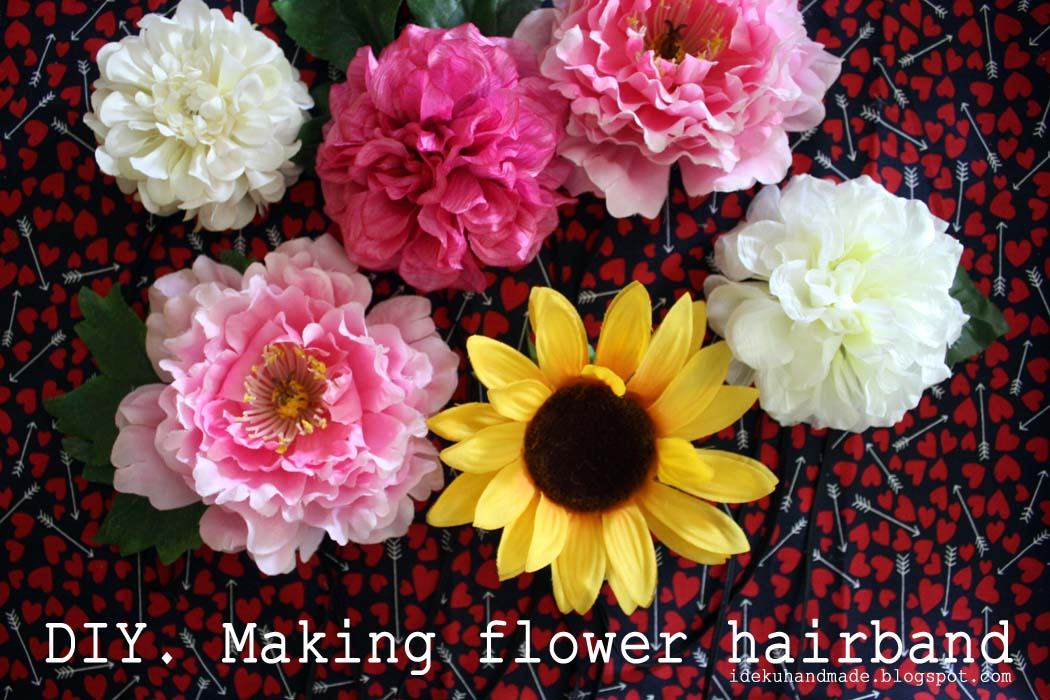 diy making flower hairband}