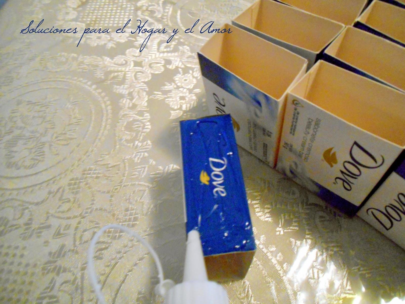 Organizador de Lápices Reciclando Cajas y Decoupage, trabajo manual con cajitas