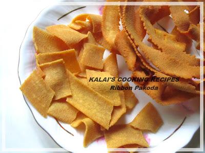Ribbon Pakoda Recipe | ரிப்பன் பகோடா செய்முறை