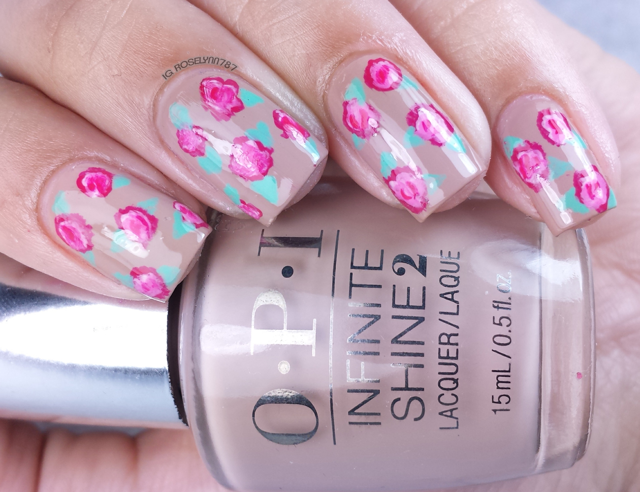 Opi infinite shine rose nail art manicured marvelous the exciting part about this mani is that it was created entirely with opis infinite shine polishes that i received from opis partnership program with prinsesfo Gallery
