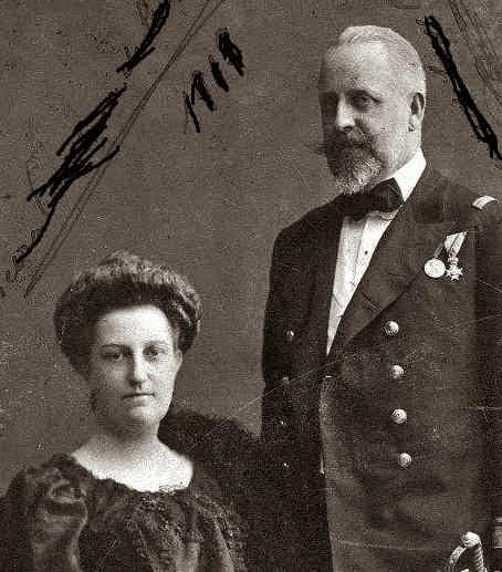 August Leopold de Saxe-Cobourg et Gotha et son épouse, née Karoline d'Autriche-Habsbourg