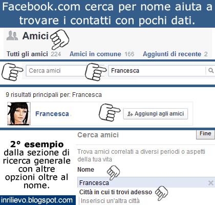 facebook cerca nome
